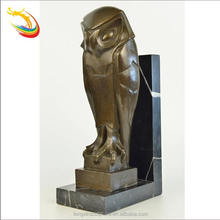 Antique Life Size Standing Bronze Owl Sculpture for Sale