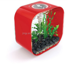 Mini DIY red decorative table top acrylic marine fish tank