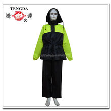 motorcycle polyester rain suits with shoe cover