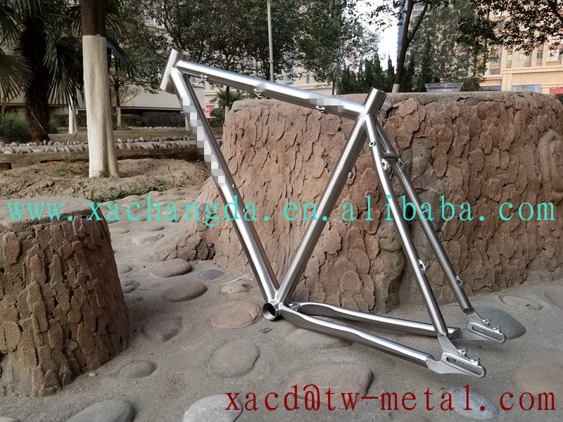 2017 new design titanium MTB bike frame custom titanium mtb bike frame with sliding dropouts