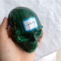Natural malachite stone skulls crystal skulls for crafts