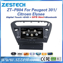 touch screen car radio for Peugeot 301 car radio GPS navigation for Citroen C Elysee car DVD multimedia support Parking system