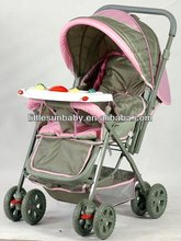 Distinctive Stroller Model 2009 With Music Tray Sets For Kids Below 3 Years Old Pink Colored