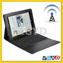 2013 hot selling Waterproof, Dustproof Bluetooth 3.0 Leather Case Keyboard for iPad 4 /for New iPad (for iPad 3) /for iPad