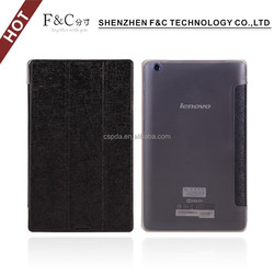 Top quality pu pc Folio cover leather case for lenovo a5500 tablet case