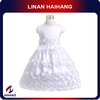 Alibaba wholesale fashion three-dimensional rose flower girl dresses for 7 year olds