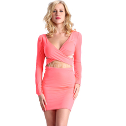 Latest Fashion Girls Party Dresses Pink Color Casual Dress For Beach Party Ladies Summer