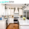 Carrara White Prefabricated Different Modular Quartz Stone Kitchen Countertop