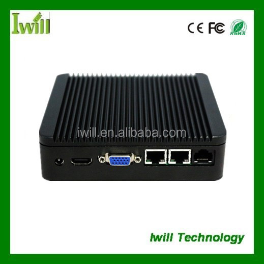 Dual lan J1800 fanless nano pc station