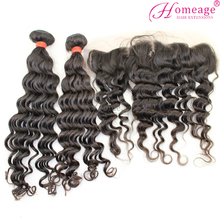 homeage Free Shipping frontal lace closure with bundles completing your flawless finish