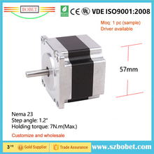 Industry grade stepper motor size 57mm 1.8degree NEMA 23 dc electric fan motor