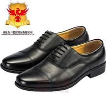 Lightweight men cheap office uniform shoe deby police military shoes