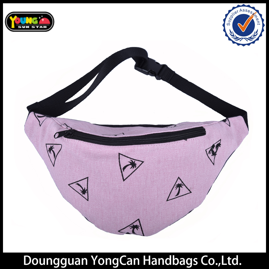 Hot sale high-quality fashion canvas pink pocket