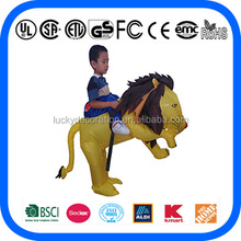 Hot Sale Kids Ride On Lion inflatable costume for Kids inflatable costume