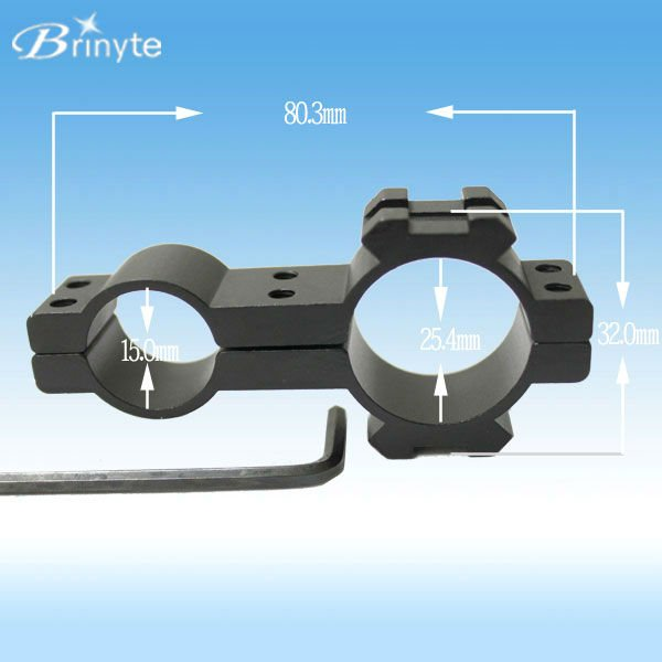 Brinyte metal scope torch mount for hunting gun