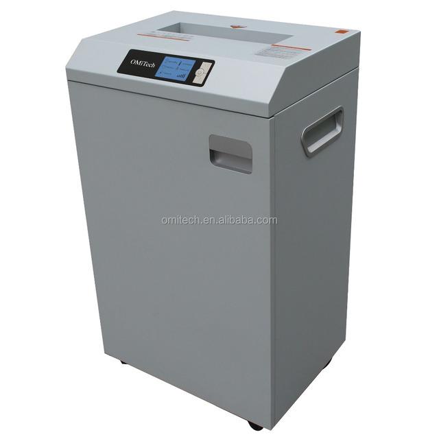 metal frame bank cross cut paper shredder machine/shredding machine