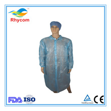 nonwoven disposable PE+PP protective lab coat