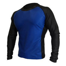 Unisex design long sleeve diving lycra rash guard soft spf 50 shirts for men