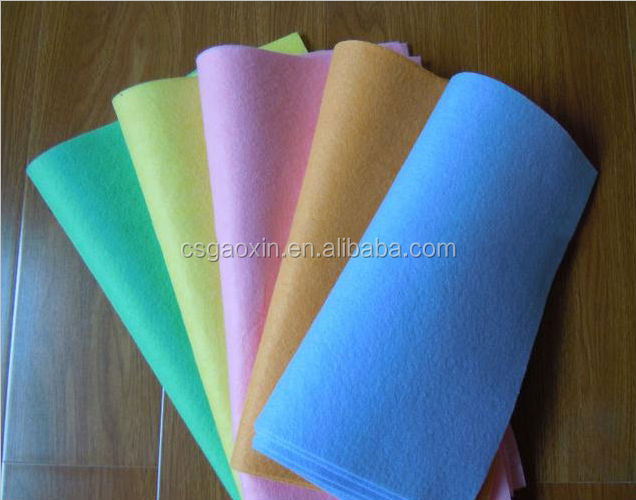 needle-punched nonwoven cleaning cloths table wiping cloth and wash wipes