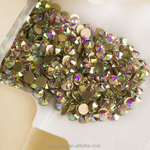 SS3-SS50 AB color 2088 non hotfix glass stones cheap flat back rhinestones in bulk
