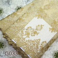 NP0621 gold lace fabric 2015 new design african beautifu lace fabrics