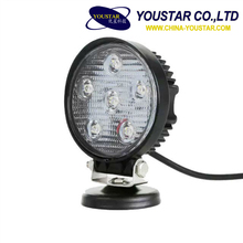 Offroad accessories Round 18 W led offroad light IP67 LED military standard offroad tank working light 18w 12v 24v 4""