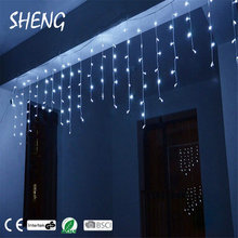 fancy 80led curtain led decoration light for wedding hot sale home sense string light