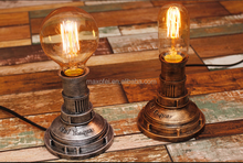 American Country Style Wall Loft Vintage Industrial Water Pipe Table Light