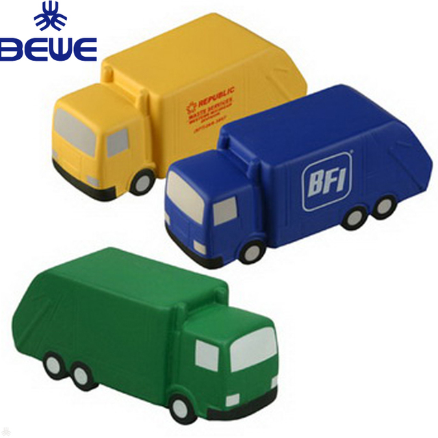 2018 New Cheap Price OEM PU Dustcart Stress Ball With Logo