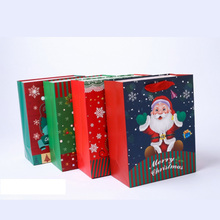 Christmas holiday paper gift bag X-mas New Year present craft bag