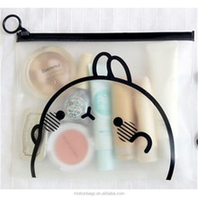 transparent cartoon pattern wholesale makeup bag eco beauty travel plain cosmetic pvc bag