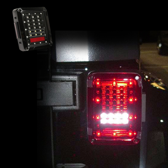 ABS&PC Led Tail Light Integrated Rear Turn Signal Lights For JK 2007-2016 Jeep Wrangler Brake Reverse Tail Turning Signal Light