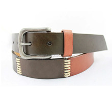 Custom new design 38mm Black/Brown male fashion belt , men's fashion belt