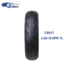 China Motorcycle Tubeless Tyre For Road Scooter Tyre 3.50-10