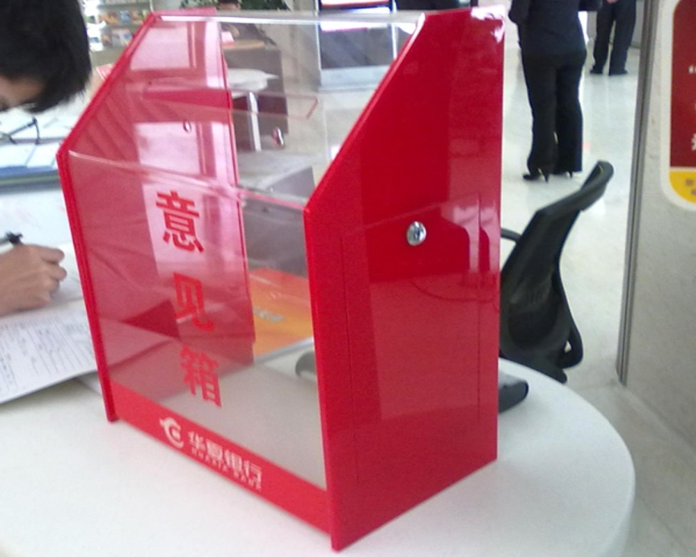 acrylic suggestion/donation/complaint boxes custom in China