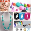 Non Toxic BPA Free Silicone Beads&Loose Silicone Beads For Teething Jewelry&Silicone Cord Necklaces