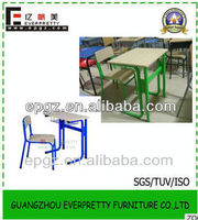 Nice design single university desks and chairs