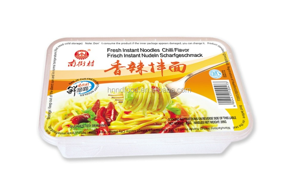 china local fresh non fried bowls instant noodle chili flavor