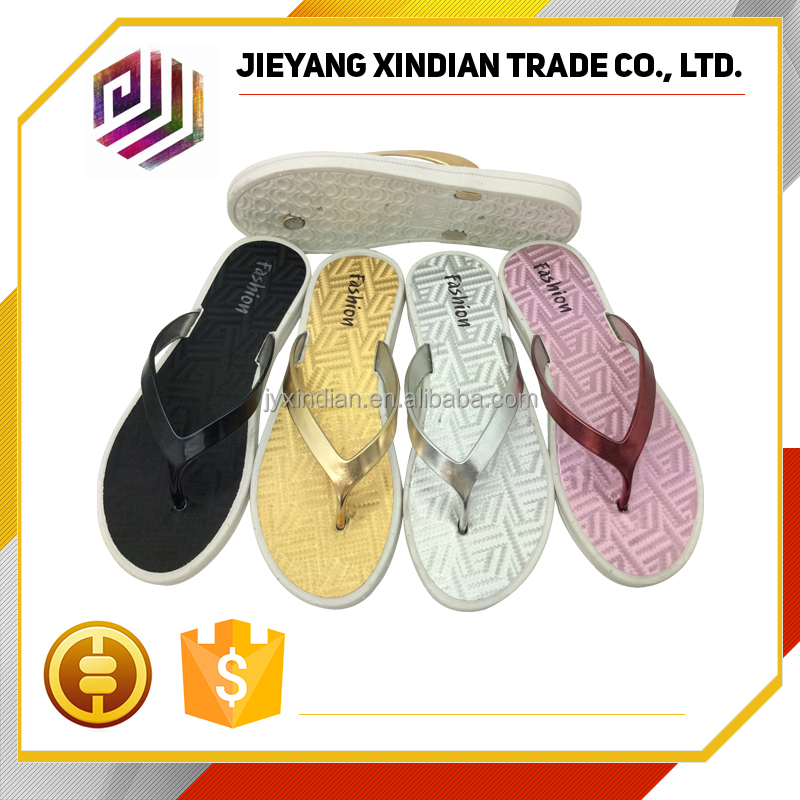 2017 cheap wholesale flip flops Simple design pvc woman slipper for sale