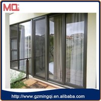 Hot selling sliding aluminium doors and windows with fly screen