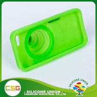 Functional retractable camera fashion silicone 5.5 inch mobile phone case