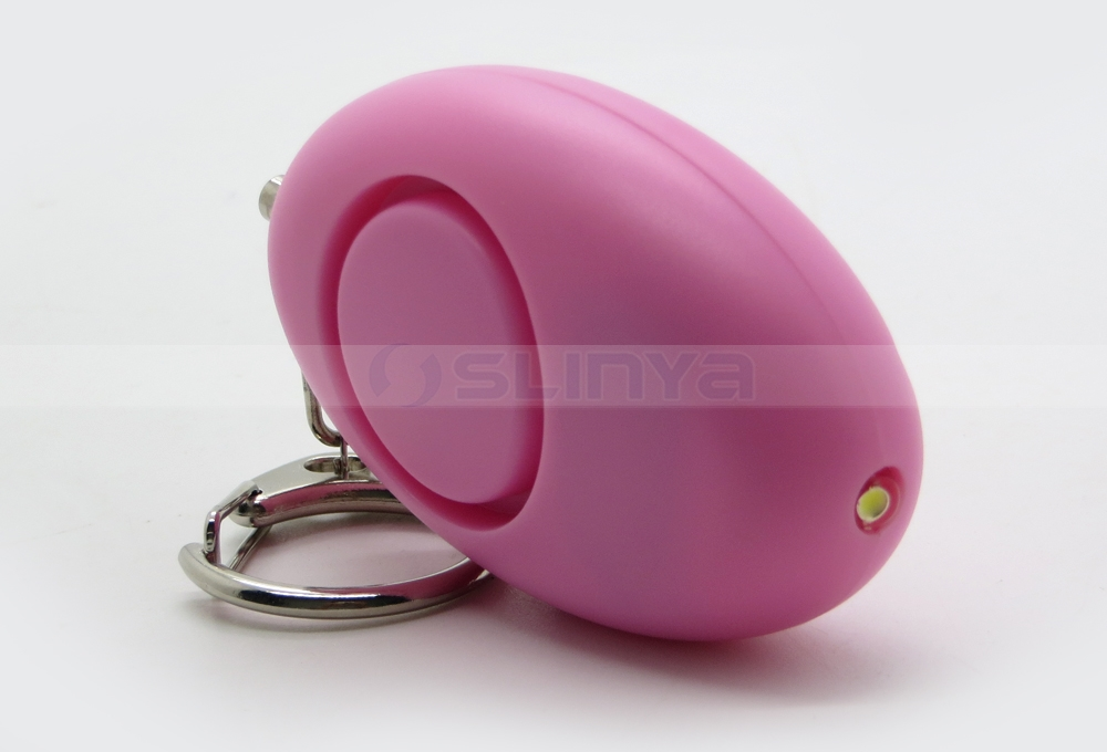 Cute Egg Shape Outdoor Scream LED Protection Personal Alarm Keychain