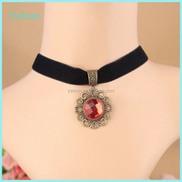 Factory price diy fabric choker necklace handmade jewelry for women