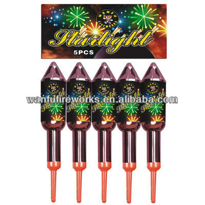 chrome plated rockets fireworks/fuegos artificiales