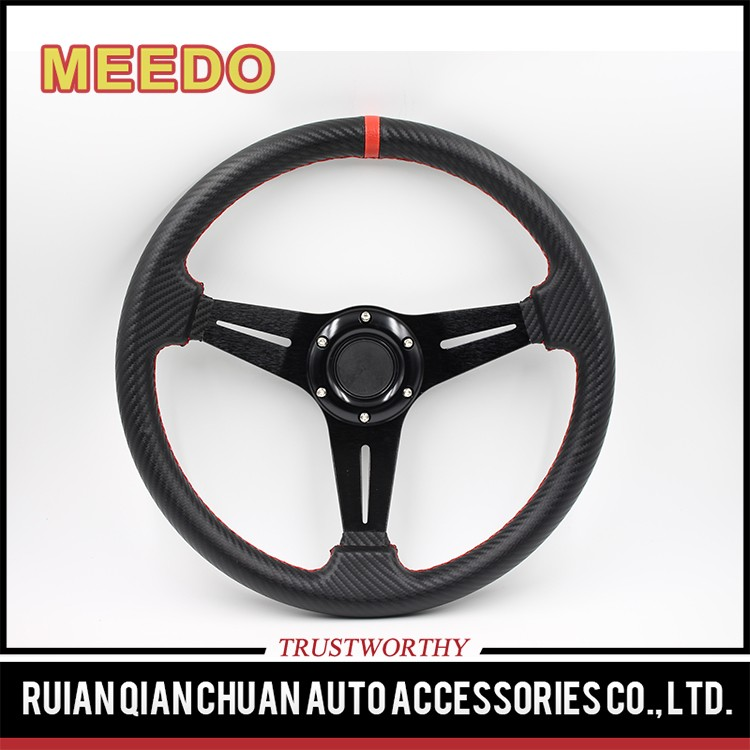 Aluminum 3spoke 30mm dish steering wheel for go karts