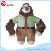 Original Cartoon Characters Zootopia sloth Stuffed Plush Toys for kids
