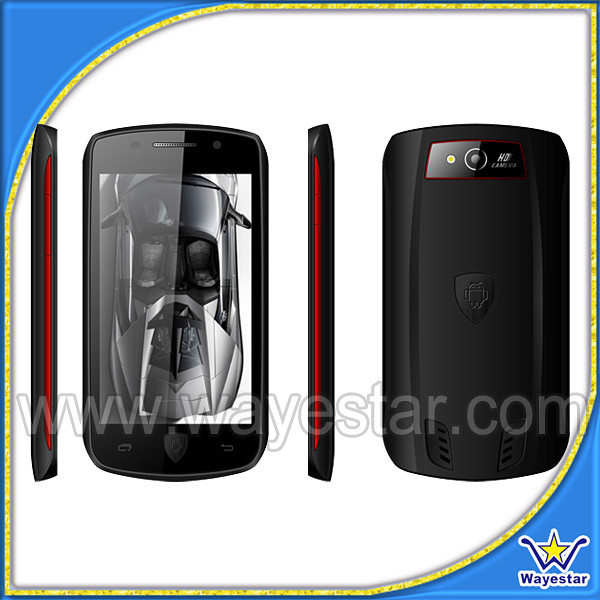 wholesale A599W car shape android handphone 3G dual sim wifi