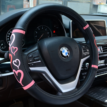 Girly Pu leather Car Steering Wheel Cover high quality