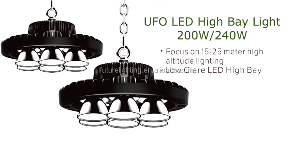 Good quality airport usage high bay lighting ufo high bay lamp 200W 240W