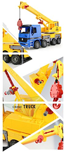 Friction toy Crane Truck Construction Vehicle Toy truck  for  kids